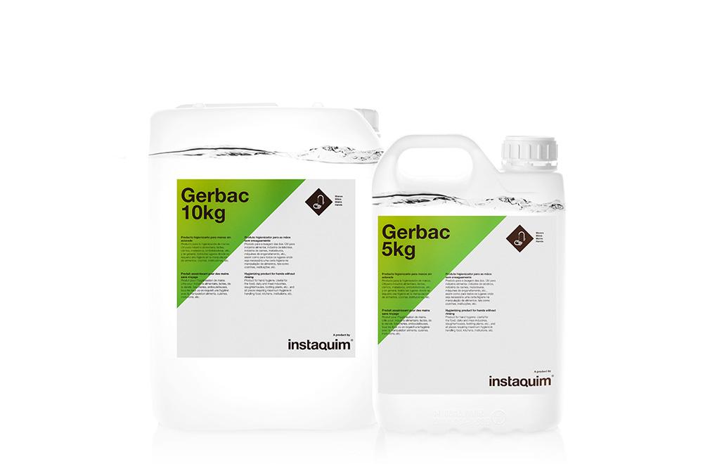 Gerbac, producto higienizante para manos sin aclarado.