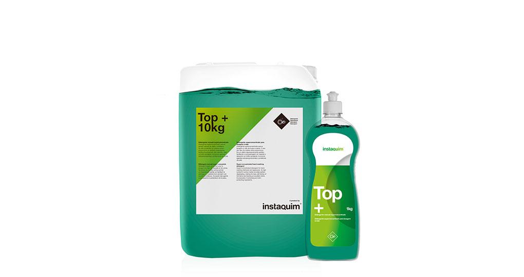 Top+, detergente manual superconcentrado.
