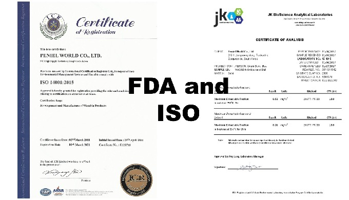 FDA Certificates and ISO