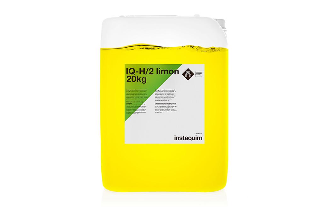 IQ-H/2 limón, detergente multiusos concentrado.