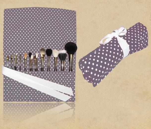 Organic Canvas Cosmetic Brush Bag