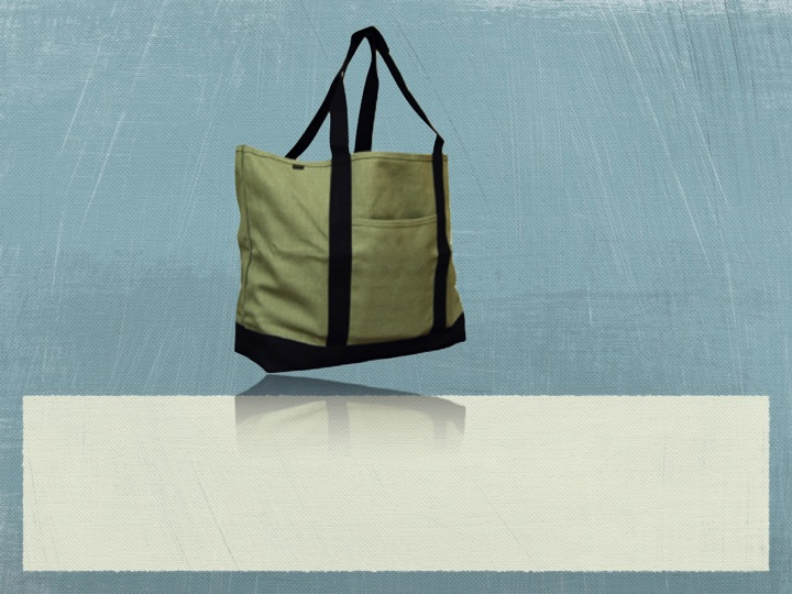 Recycled Canvas XL Shopping Tote Bag