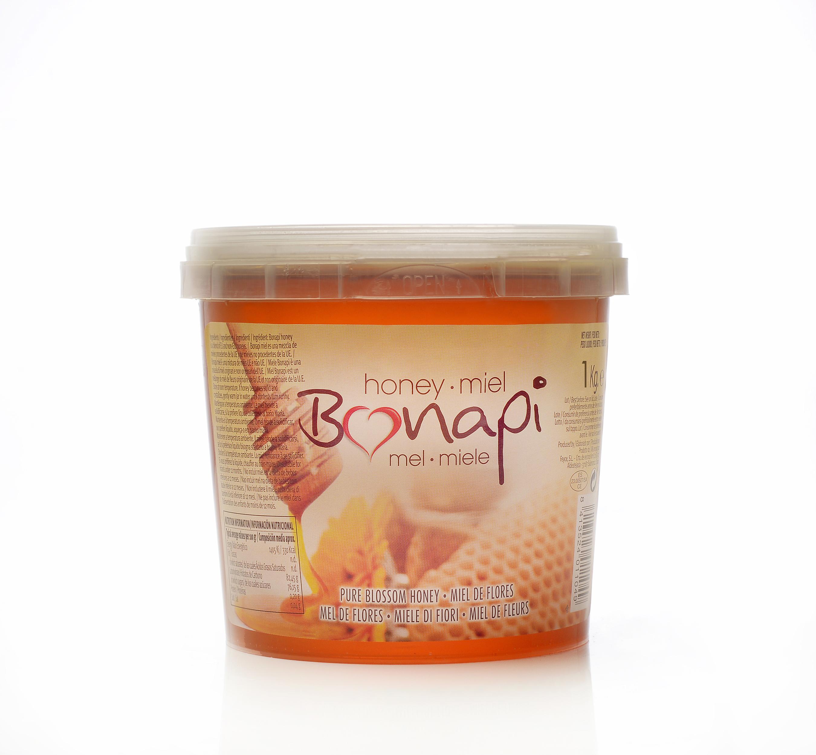 """Cubo 1kg Miel de Flores """"Bonapi"""""""