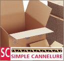 Caisse américaine simple cannelure