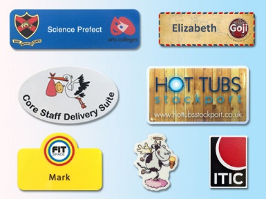 Plastic panel name badges