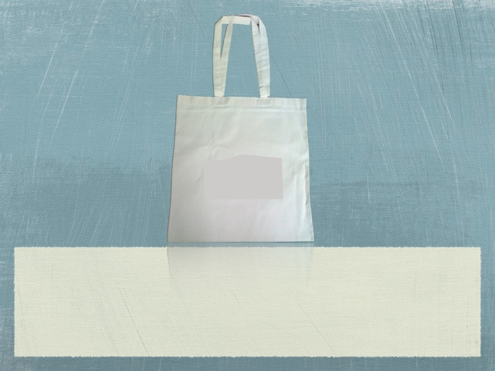 Recycled Canvas Shoulder Shopping Bag