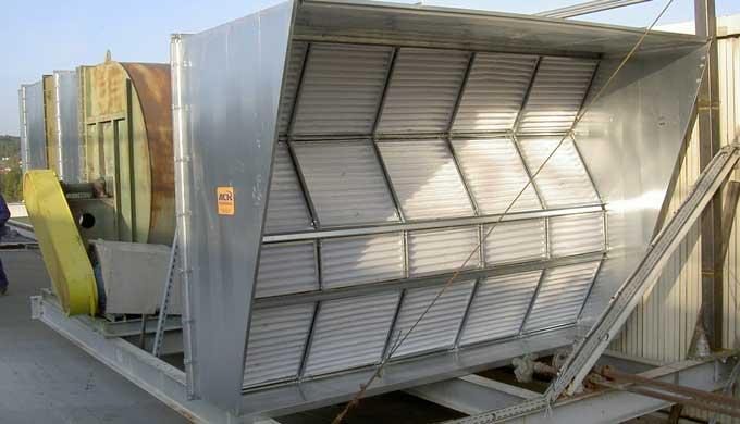 Caisson de filtration pour l'industrie