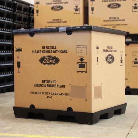 Embalaje reutilizable de cartón