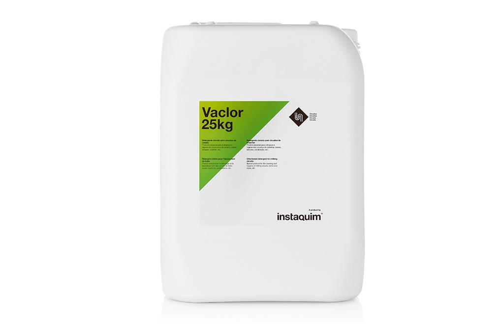 Vaclor, detergente clorado para circuitos de ordeño.