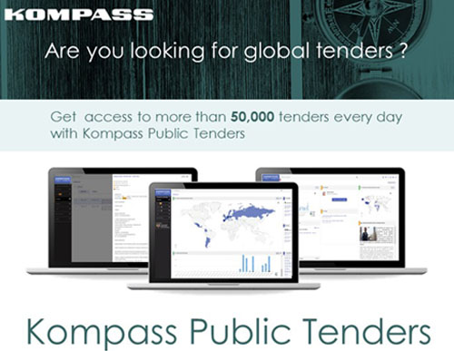 Kompass Public Tenders is our new global tenders service helping companies identify new business opportunities through a