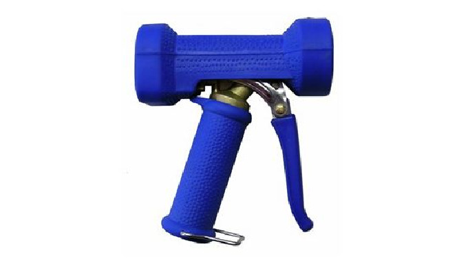 Pistolet à eau robuste en laiton avec protection caoutchouc EPDM Levier et pousseur en inox Variation du jet suivant pr