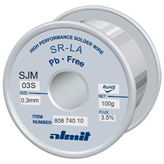 Cepelec vous propose le fil de brasage SR-LA SJM-03 S de la marque Almit, leader en Allemagne. Fils à souder sans plomb