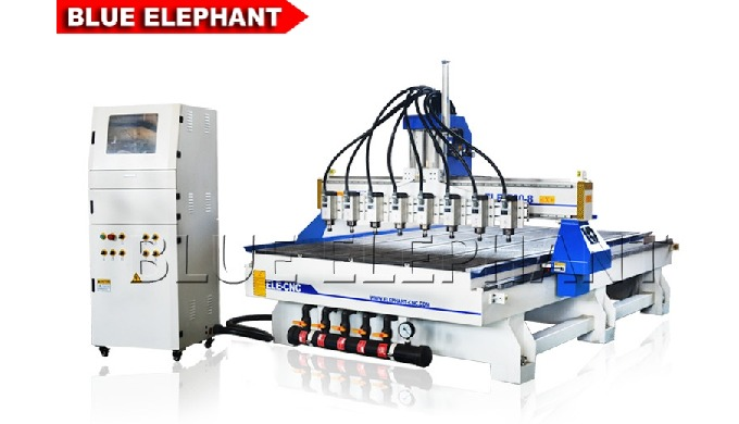Features: 1. Compared with 1325 Multi Spindle Woodworking Machine and 0809 Multi-head 4 axis CNC Router, the amount of