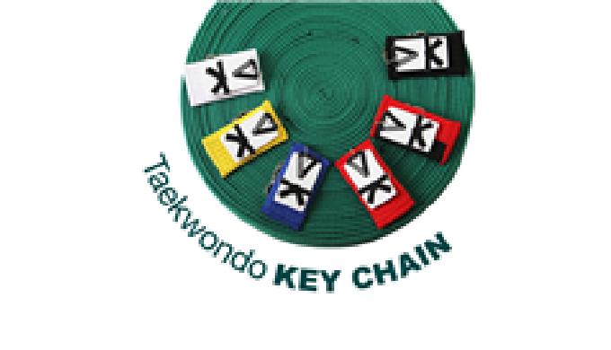 Belt Rank Key chains with Rubber Taekwondo uniform Ideal for Martial arts Gift. A great combination of a small rubber Ta