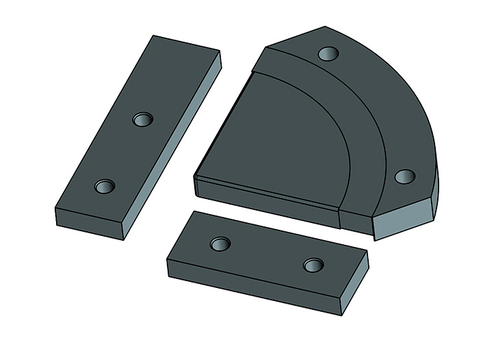 Cuchillas para cortar ángulos: Fabricadas en acero especial para herramientas, llevan un proceso de afilado después de r