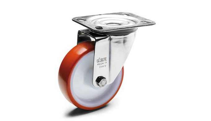 Castors and Wheels, A new line of industrial castors and wheels for manually moving machines, equipment and trolleys.