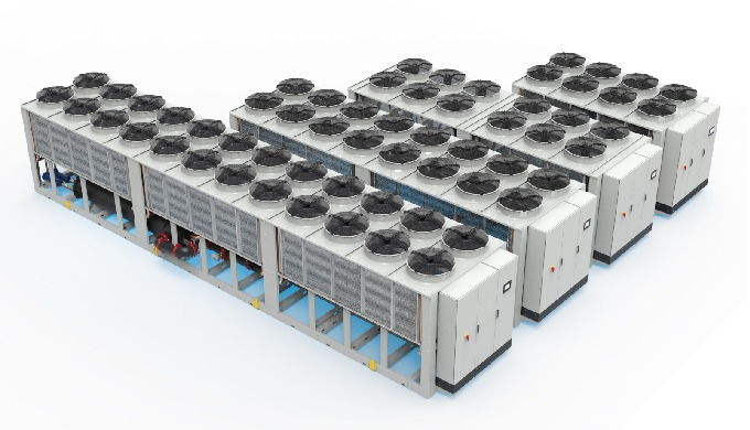 WSA are chillers for outdoor installation, specifically designed to have high performance with small footprint. Air cool