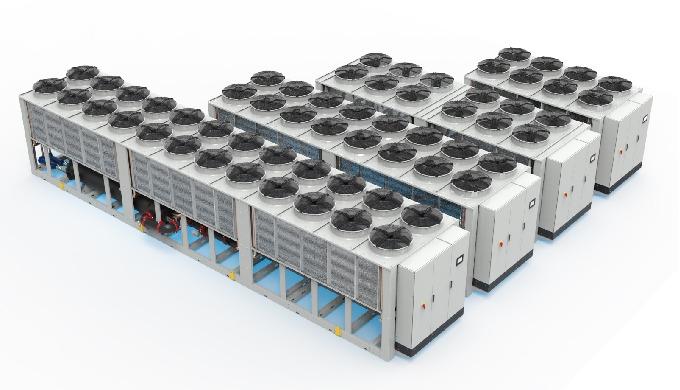 Refrigeratori di liquido adatti all' installazione in ambiente esterno, appositamente studiati per garantire elevate pre