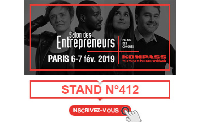 Kompass est présent sur le salon des entrepreneurs de Paris - stand 412