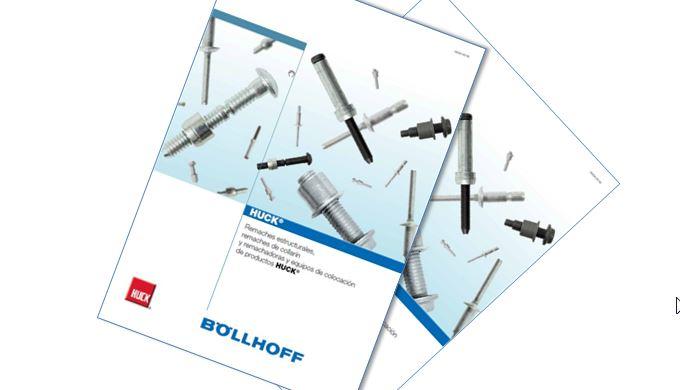 Remaches estructurales HUCK® y remaches de collarín HUCK®: todo sobre la gama, sus aspectos técnicos y sus aplicaciones en un único catálogo con diseño Böllhoff
