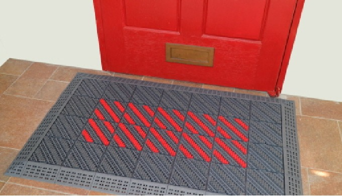 Clean and pleasant indoor environment keeper, shoe scraper  Door mat installation is necessary for a pleasant and safe i