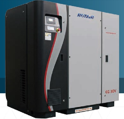 COMPRESOR A TORNILLO la calidad del sistema de refrigeración garantiza una temperatura del aire a la salida de sólo 10º