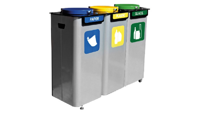 Containerele de separare a deșeurilor sunt fabricate din oțel de înaltă calitate, acoperit cu pulbere rezistente la subs