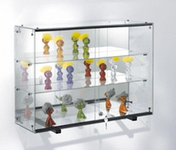 Pour la mise en valeur des objets exposés Fabrication 100% en verre Sécurit trempé épaisseur 5 mm Portes coulissantes