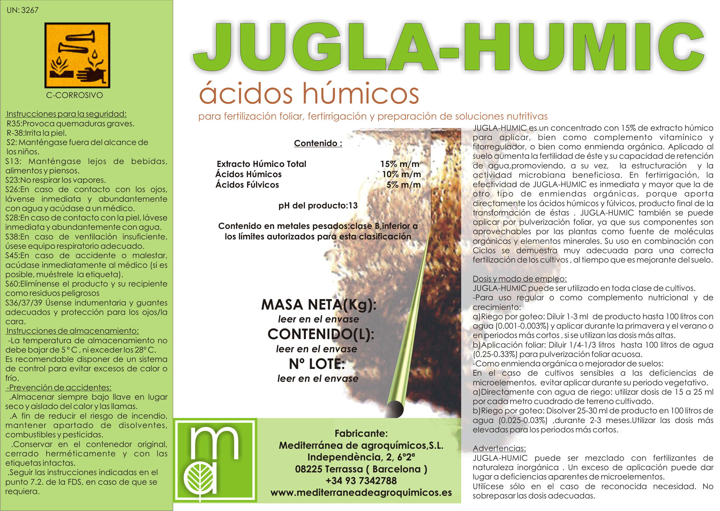 JUGLA-HUMIC/Acidos húmicos