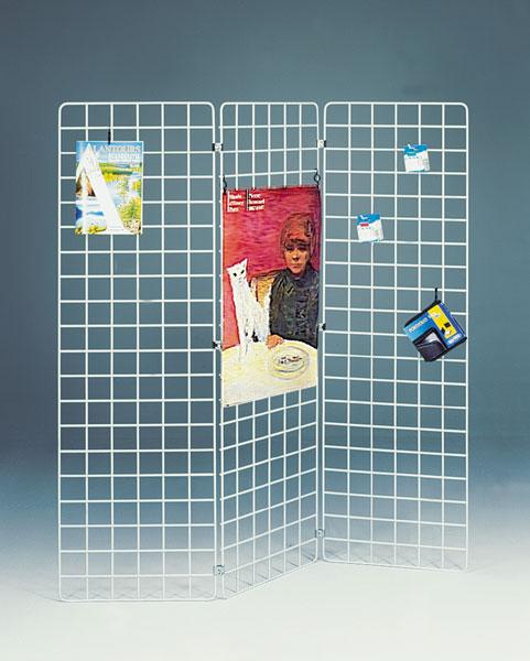 GRILLES D'EXPOSITION ÉCONOMIQUES H. 200 X L.40 CM BLANCHES