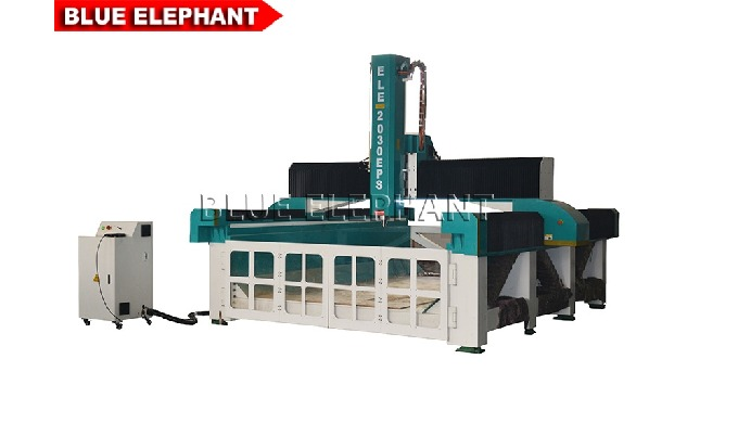 Advantages: 1. Self-lubricating, life-long maintenance-free Taiwan guide rail. 7.5kw Changsheng water cooling spindle ,