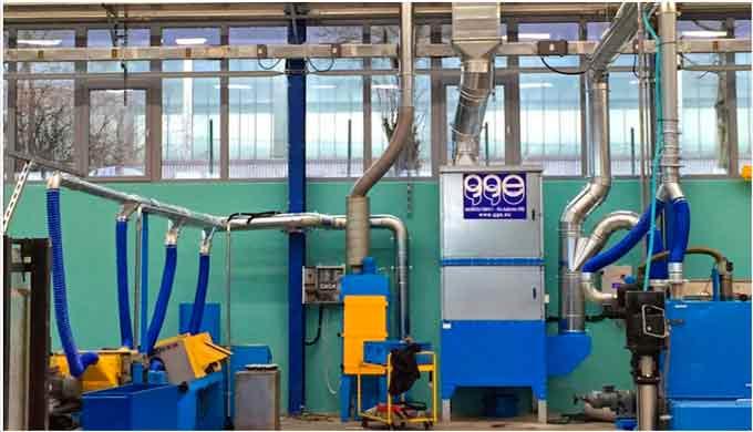 Distribuimos sistemas para filtración de humos de soldadura, de la marca gge, sinónimo de garantía, calidad y servicio p