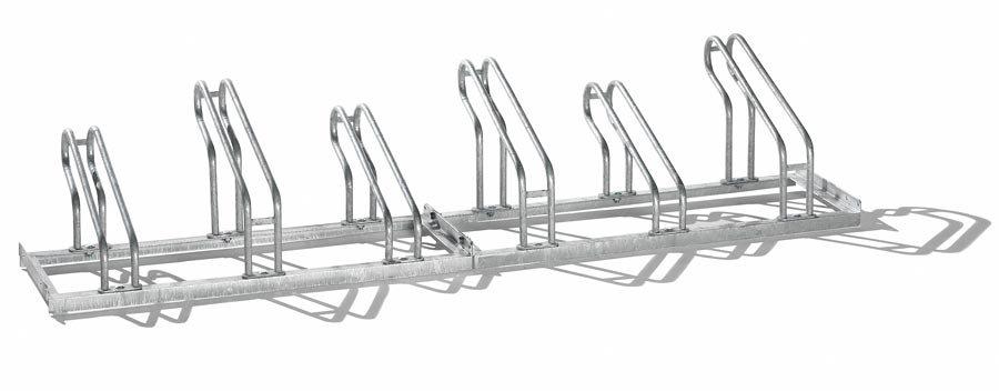 Bügel aus 18 mm StahlrohrRadeinstellung einseitig, feuerverzinkt Platz sparende Hoch-/Tief-Radeinstellung Zur Reihenverb