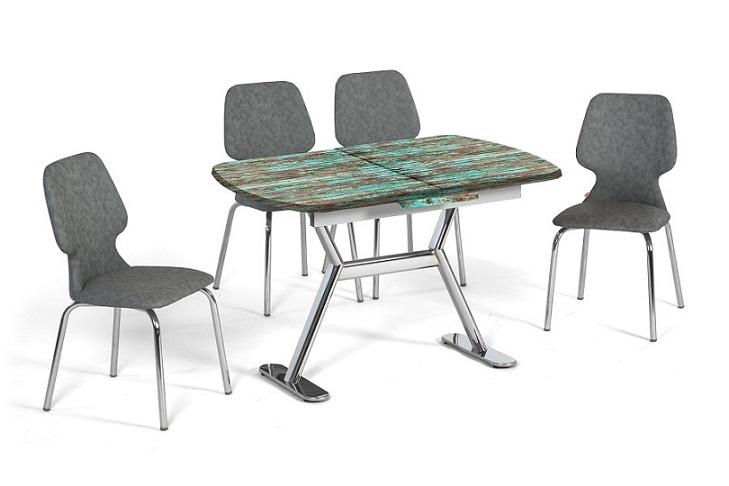 EN 944 Antique Green Dining Set