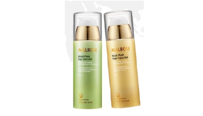 MALROSE Whitening cosmetics Day care and night aqua gel Day moisturizing gel for keeping moisturized, vital skin in the