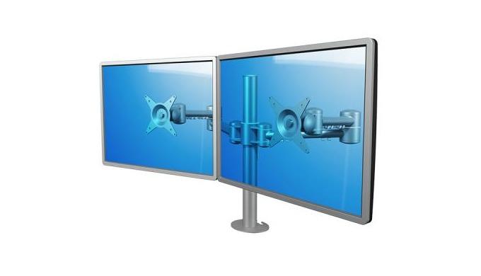 Brazos ajustables para monitor