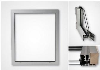 Aluminiumfönster IFS65 för Parocpaneler