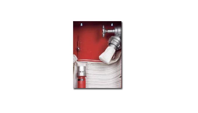 Hydranty z wężem ułożonym warstwowo