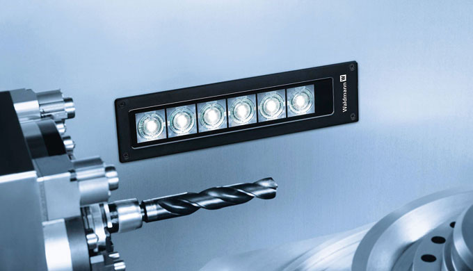 Integrated machine luminaire flat led