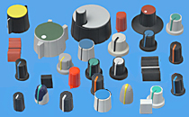 Wir führen eine große Auswahl an Drehknöpfen mit Spannzangenbefestigung Sowie Steck-, Schieberegler- und Drucktastenknöp