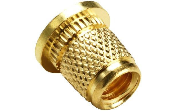 Brass Knurl Molding Inserts - 3