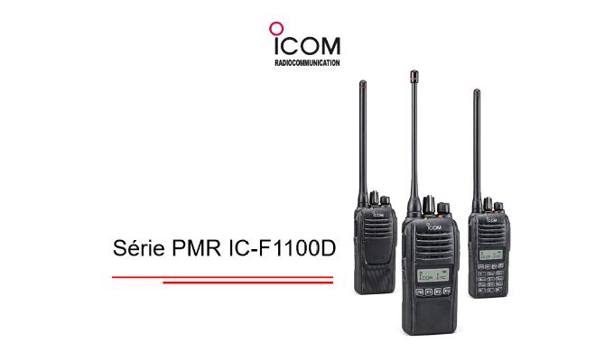 La série IC-F1100D s'inscrit dans la continuité de l'IC-F1000D, compacts, légers et dotés de fonctionnalités essentielle