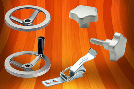 Stainless steel spoked handwheels, lobe knobs and hook clamps from Elesa UK
