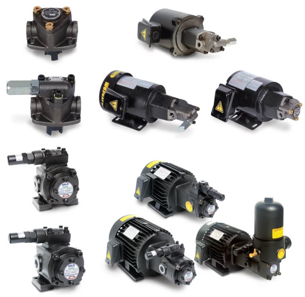 Rotor pump is small compared to external gear pumps or centrifugal pumps and it can be used to provide lubricating oil t
