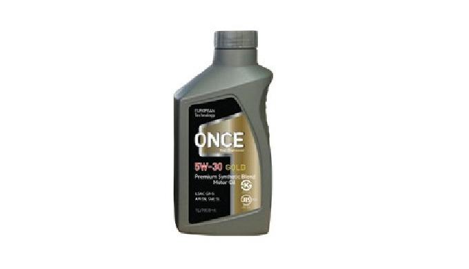Une FOIS l'OR 5W30 SYNTHTETIC MARQUE (lubrification produit)