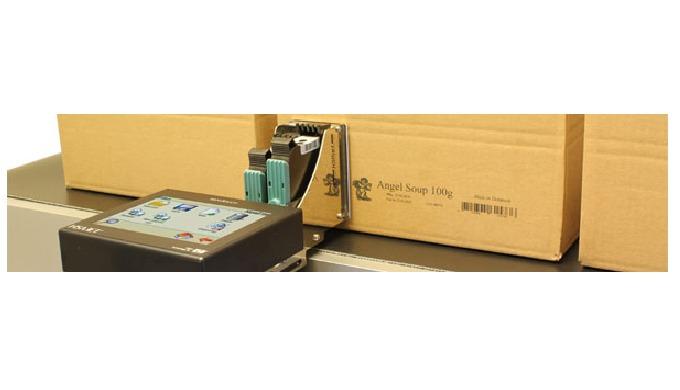 Intégré par CDA, le marqueur industriel d'impression par jet d'encre sur carton permet de marquer des informations simpl