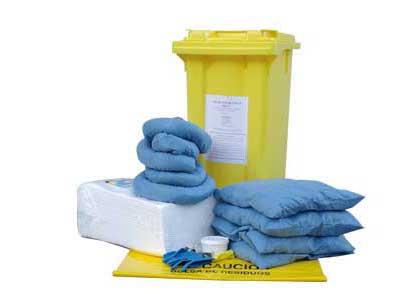 Contenedores para derrames  Contenedores para derrames están preparados  para controlar derrames imprevistos. Conten