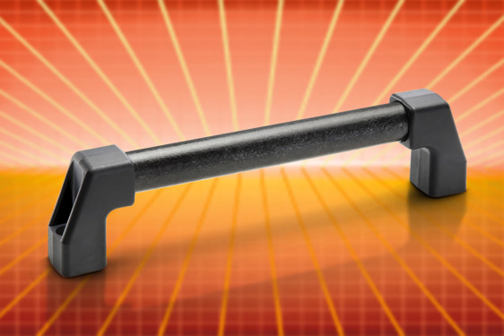 Elesa's M.1043-HEI handle features intrinsically high electrical insulation by virtue of its material construction. This