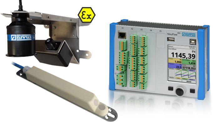 Notre système de mesure de débit Radar (NivuFlow 550/755) offre une solution sans contact pour la mesure de débit en can