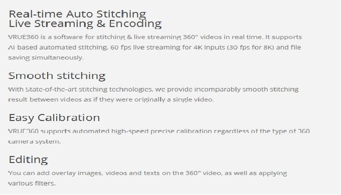 The world first 8K 360 video live stitching, streaming & editing solution